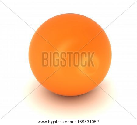 Abstract 3D orange sphere design layer with shadow.