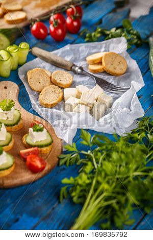Bread Rusks And Cheese