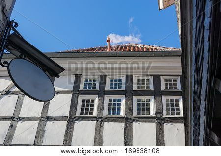 View facade of a timbered house in Hattingen Germany