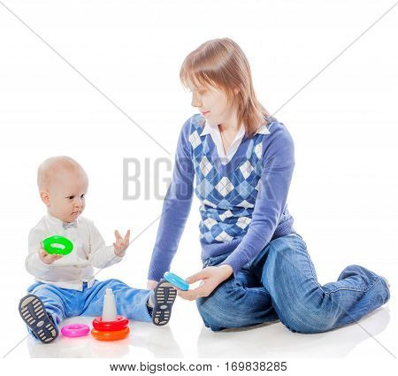 Mother Son Playing