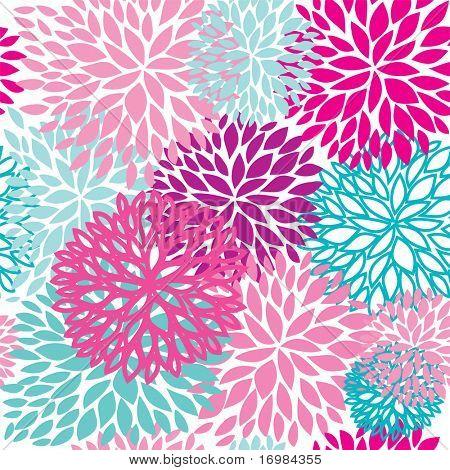 Patrón transparente brillante Floral