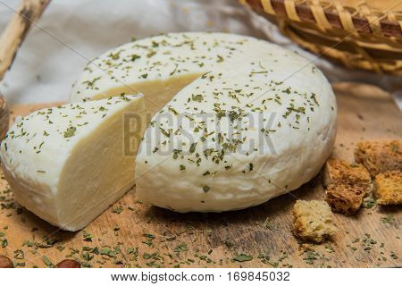Traditional Russian Adygei Cheese