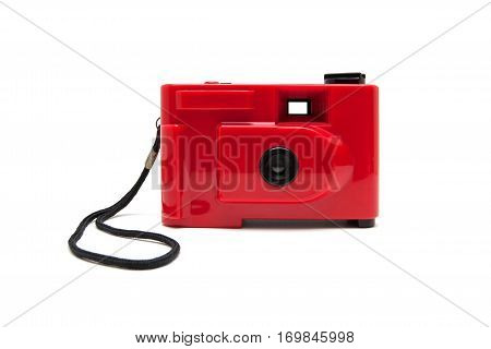 Disposable camera isolated on a white background