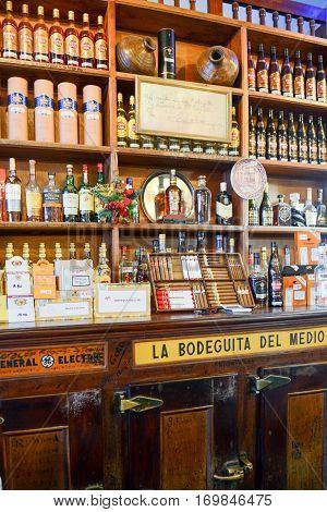 La Bodeguita Del Medio Restaurant In Old Havana, Cuba
