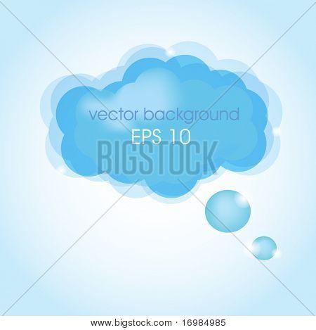 Blue cloud balloon