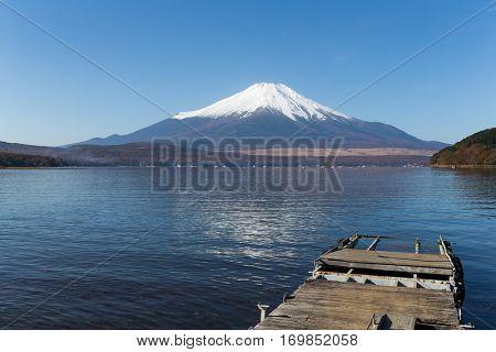 Mt. Fuji in Lake Yamanaka