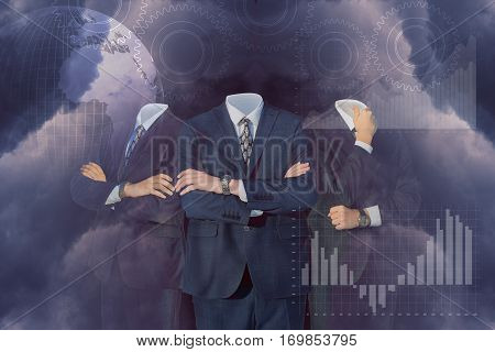 Business people in a larger business concept design illustration banner