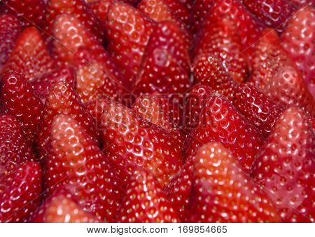 Strawberries Background - Texture