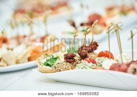 Delicious appetizer close-up