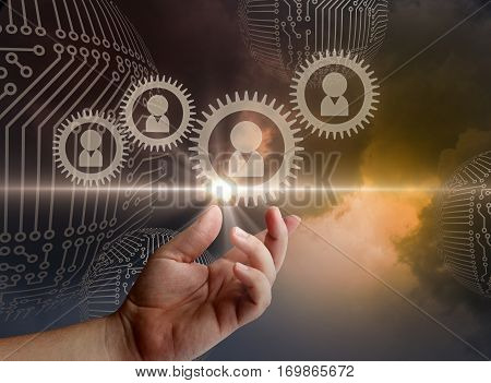 Innovative personnel Management concept design illustration banner