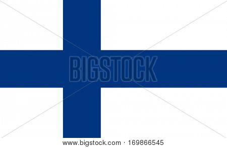 Official colors and proportion flag of Finland, Vector Finnish symbol illustration for web and apps in eps10.