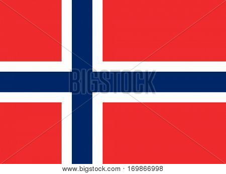 Official colors and proportion flag of Norway, Vector Norwegian symbol  illustration for web and apps in eps10.