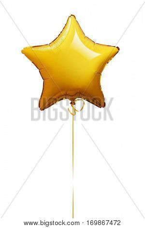 Star shape balloon isolated on white -Clipping Path