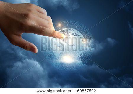 Modern intonational global network concept design .