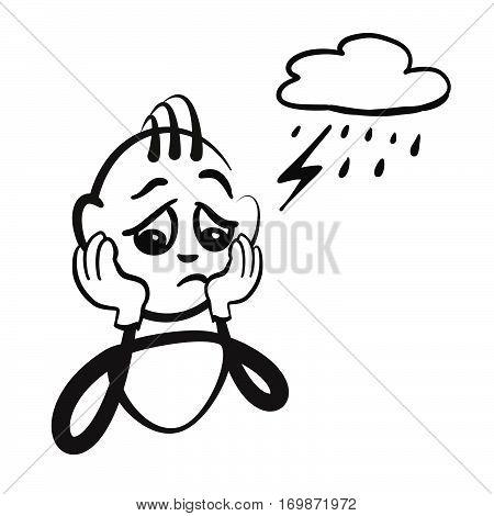 Stick Figure Series Emotions - Defeat