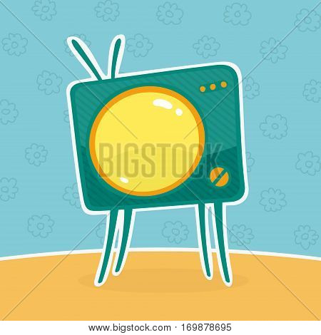 Kids Television Vector Illustration eps 8 file format