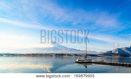 Mountain fuji and lake kawaguchi, Japan