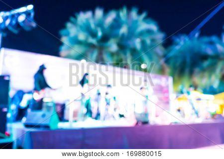 Abstract blur of beer garden