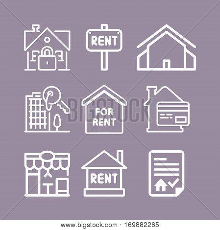 Basic - Real estate icons. Set icons.