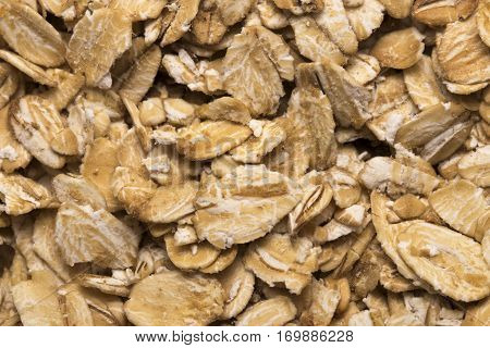 The Texture Of Oatmeal. Oat Flakes Photo, Oat Background. Oatmeal Photo, Dry Oatmeal