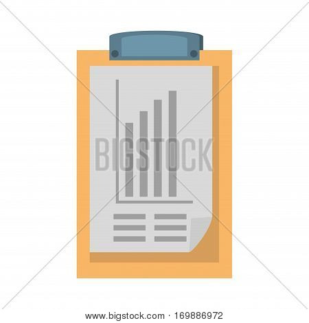clipboard with document icon design, vector illustration image