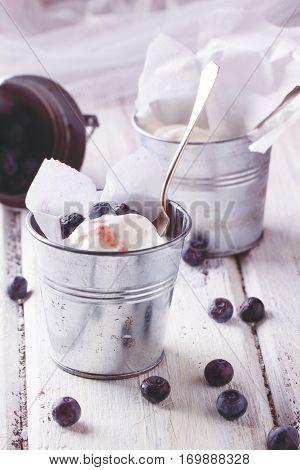 Ice Cream With Blueberries