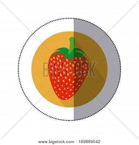 strawberry fruit icon image, vetor illustration design