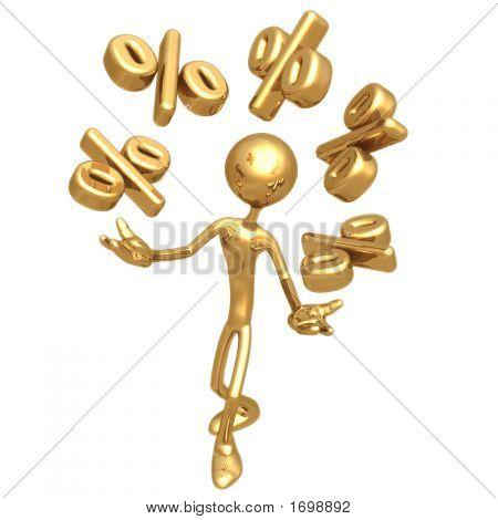 Juggling Percentage Symbols