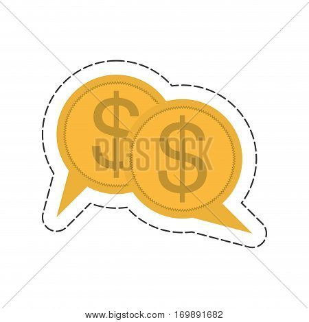 coins business bubble related icon image, vector illustration