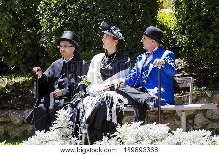 CAGLIARI, ITALY - May 29, 2016: Sunday at La Grande Jatte VIII Ed. At the Public Gardens - Sardinia
