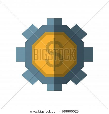 gear business money icon, vector illustration design