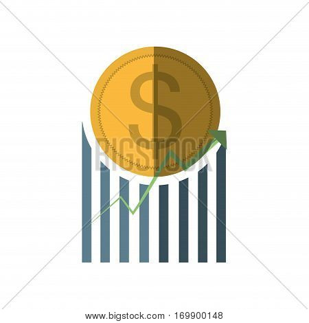 business coin graphic icon, vector illustration design