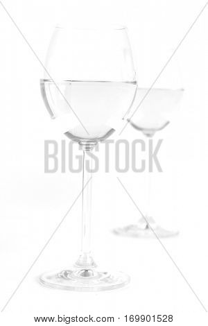 Glas of white wine - studio shot