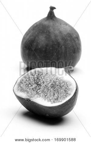 Fig on white bacground - studio shot