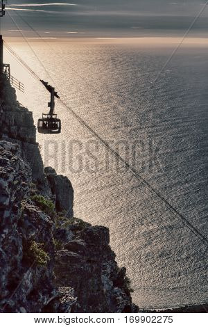 In South Africa Coastline Cape Town Funicular