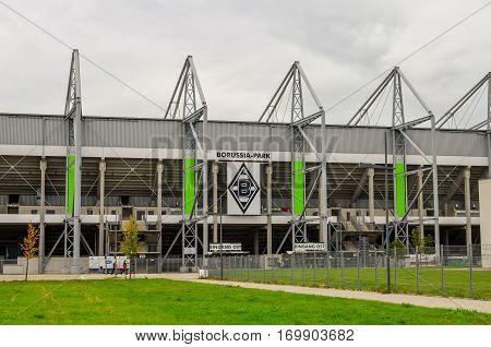 MONCHENGLADBACH, GERMANY- AUGUST 28, 2014:  Football stadium Borussia Park in Monchengladbach