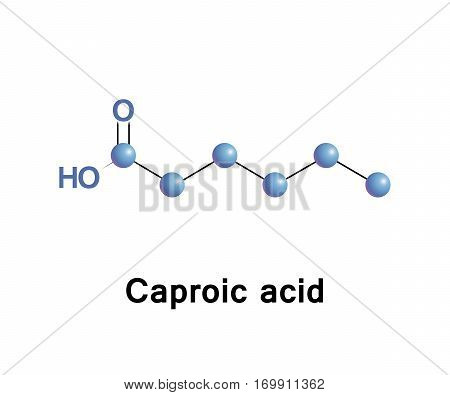 Hexanoic acid or caproic acid is the carboxylic acid derived from hexane with the general formula C5H11COOH.