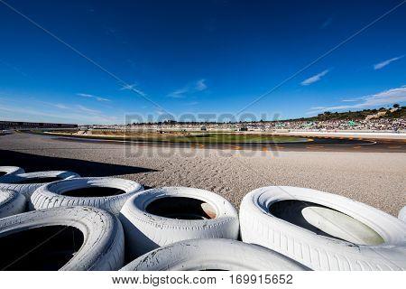 VALENCIA, SPAIN - NOV 13: The circuit during Motogp Grand Prix of the Comunidad Valencia on November 13, 2016 in Valencia, Spain.
