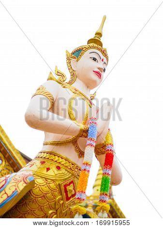 Kinnari is Half-bird - half-woman creature at south-east Asian Buddhist mythology