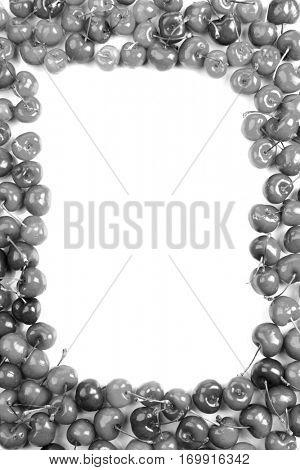 Cherries on white background - studioshot