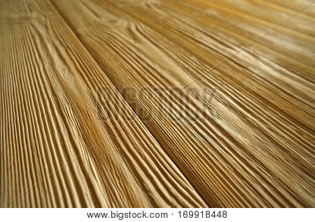 Wooden Striped Perspective Close Up.  Timber Background