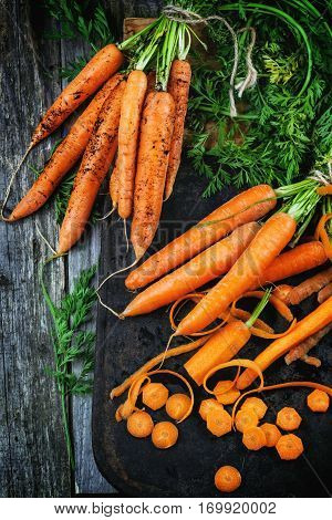 Whole And Sliced Carrots