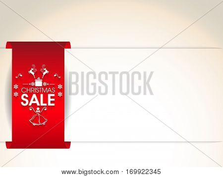 Christmas Sale Poster, Banner or Flyer design with space for your text.