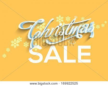 Christmas Sale Poster, Banner or Flyer design.