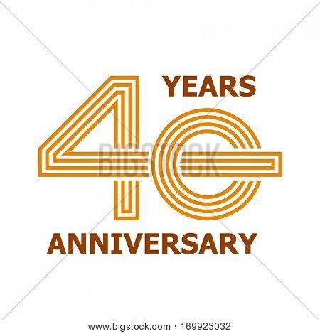 40 years anniversary symbol vector