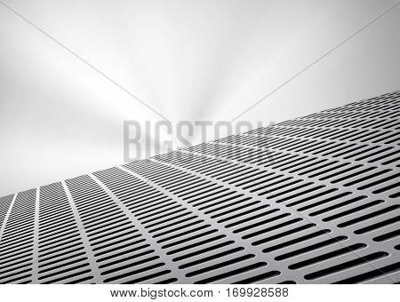 silver metal interior background