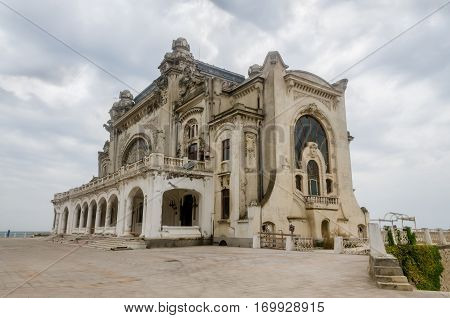 Constanta, Romania - September 4, 2014: Visiting The Old Building Named