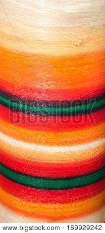 Detail of a painted vase vivid colored texture