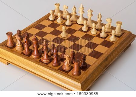 The First Move A Pawn  On The Chess Board