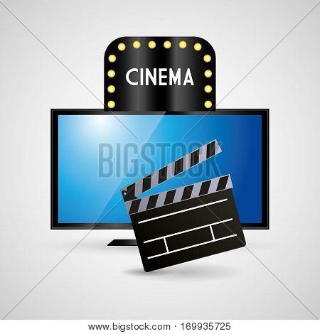 cinema television clapper film vector illustration eps 10